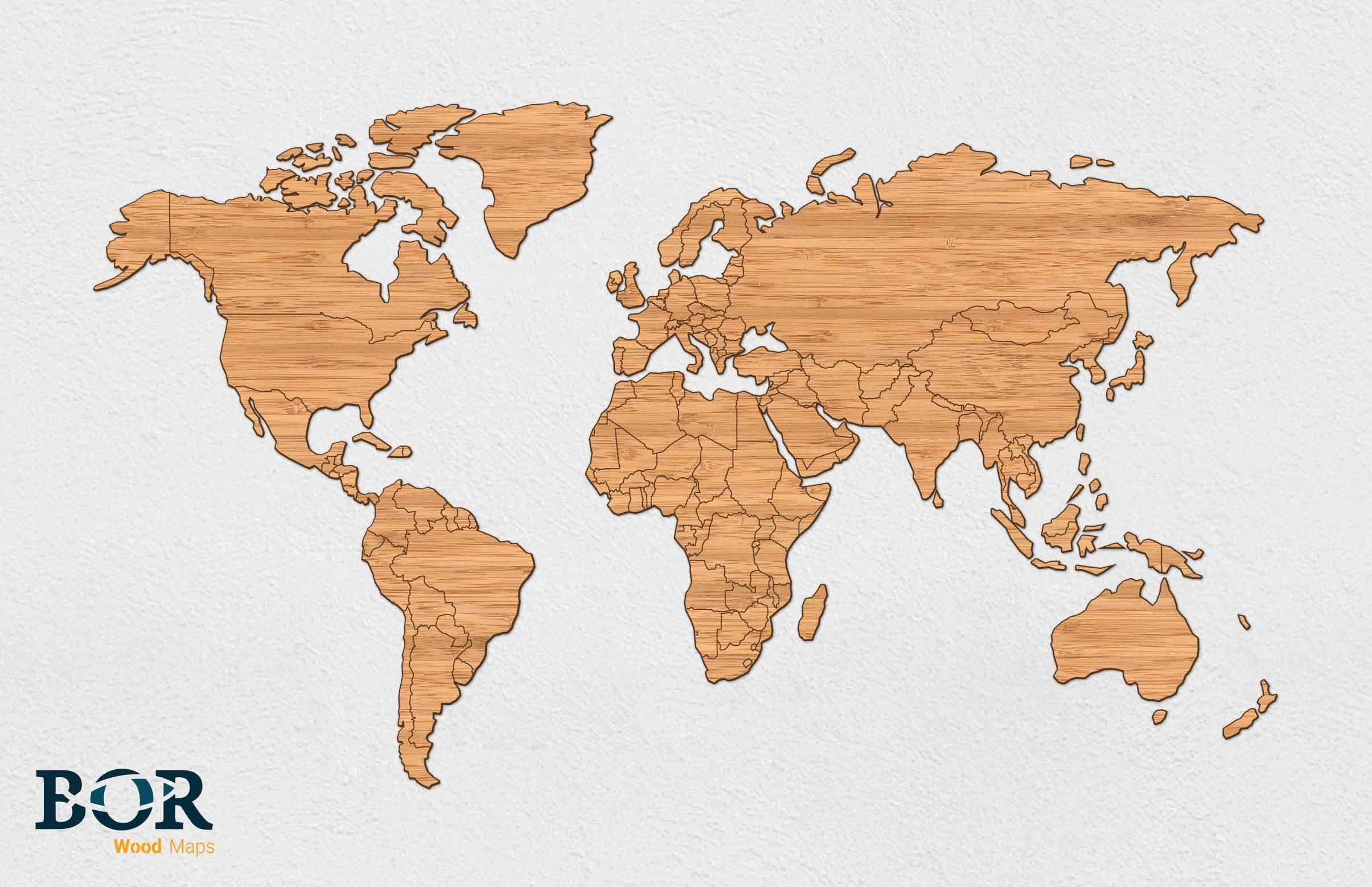 Wereldkaart van hout bamboe bor lasertechniek wereldkaart van hout bamboe altavistaventures Images