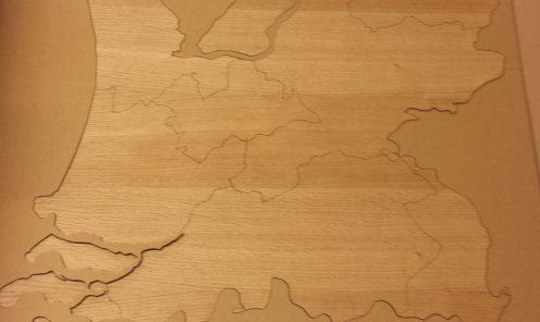 Eikenhouten kaart Nederland