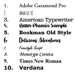Lettertype Trouwtekst